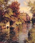 Sunny Afternoon on the Canal by Louis Aston Knight